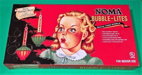 Noma Bubble Lites Christmas Lights Nostalgia Series String Of 7 in Box Vtg RP
