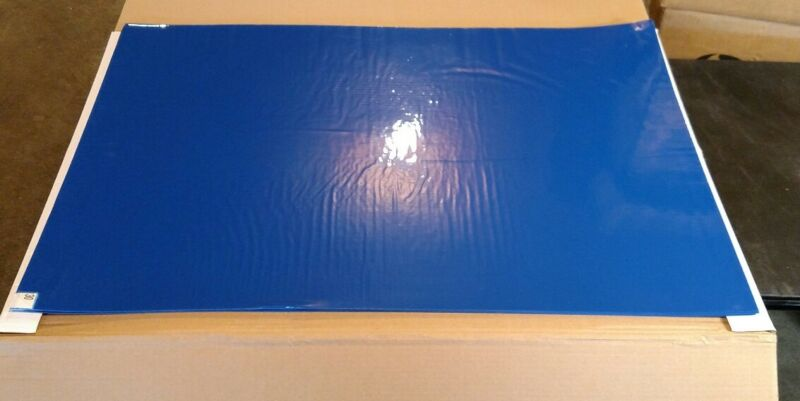 """Clean Room Tacky / Sticky Mats  24"""" x 36"""" - 4 Pads x 30 Sheets"""
