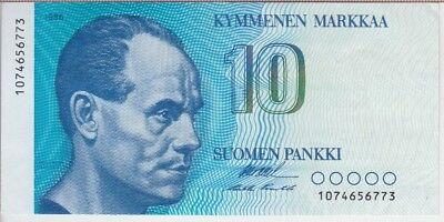FINLAND BANKNOTE P113, 10 MARKKAA 1986, UNC