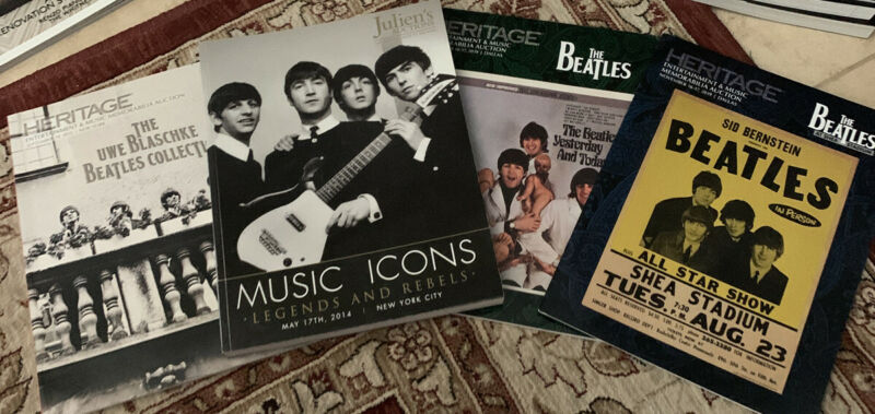 4 Lot The Beatles AUCTION CATALOG S Icons Over 300 Pages Of Artifacts