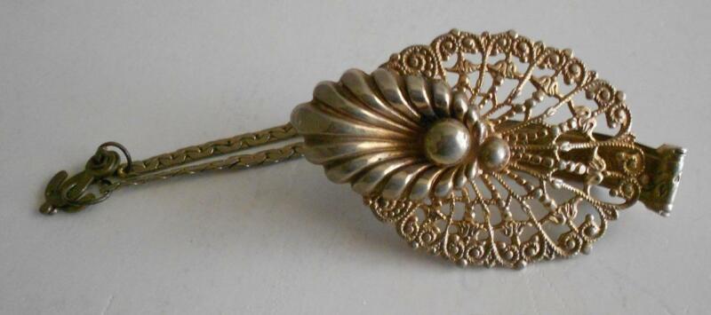Vintage Antique Ornate Glove Clip Filigree Victorian Style