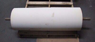 No Name 14 34 X 42 1 1116 Shaft Dia. White Rubber Conveyor Belt Head Roller