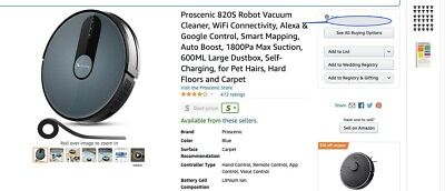 proscenic 820s new vacuum (Unopened)