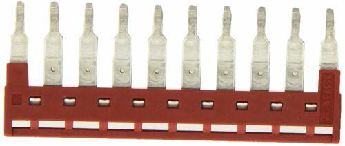 Dinkle DSS2.5N-10P DIN Rail Terminal Block Press-Fit Jumper Red (4 pieces)