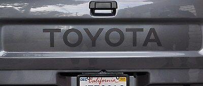 MATTE BLACK TOYOTA TRUCK TAILGATE LOGOS DECAL 89-95 FLAT  BLACK (Flat Black Truck)