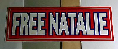 DIXIE CHICKS FREE NATALIE RED HELMET BIKE BOARD CASE 3x9 LARGE BUMPER STICKER