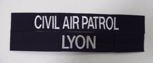 CAP CIVIL AIR PATROL NAME TAPE TAGS NAVY BLUE AND SILVER SET OF 2