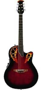 Ovation Acoustic Electric Guitar and Case - Exceptional