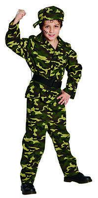 Kämpfer Army Soldaten Kostüm Military für Kinder