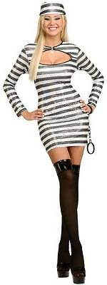 Prisoner of Love Convict Inmate Striped Dress Up Halloween Sexy Adult Costume - Prisoner Of Love Costume Halloween