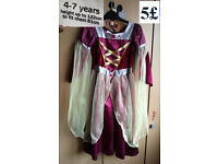 princess dress 4-7y