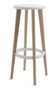 Temple & Webster Beech Wood Bar Stool x4