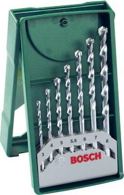 Set Punte Trapano Muro Bosch 7 Pz Misure da 3 / 8 mm 2607019581