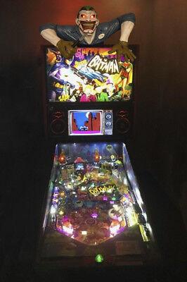 Batman Joker Pinball Machine topper, fits any Batman machine including new ones