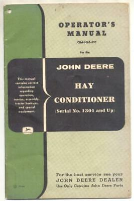 John Deere Hay Conditioner Manual