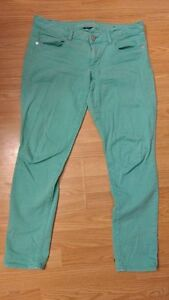 American Eagle Size 12 Teal Stretch Pants