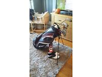 Full Golf Set - Taylormade Irons / Titleist Woods / New Ben Sayers Bag /New Shoes
