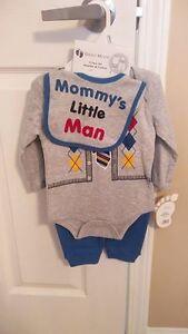 "BRAND NEW! 4 piece set ""Mommy's little man""  6-9 Months"