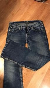 ladies Aiko Silver Jeans 30 / 33