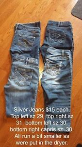 Ladies Silver Jeans $15.00 each