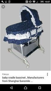 Baby Blue Bassinet. great condition