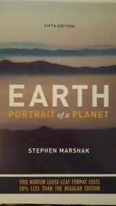 NATS 1750: EARTH: PORTRAIT OF A PLANET. STEPHEN MARSHAK