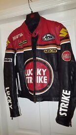 Leather Lucky Strike Schwantz Motorbike Jacket