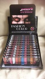 JOB LOT MAKE UP IDEAL FOR MARKET OR CAR BOOT SALE - 24 LIPSTICKS AND 12 EYESHADOW PALLETS