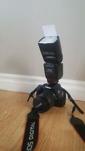 canon t3 eosnwith flash