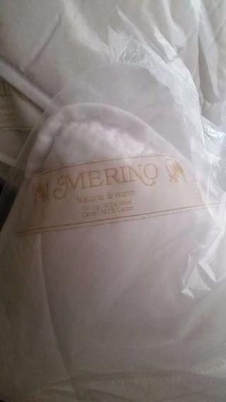 King size Merino Wool Duvet + Two Wool Pillows
