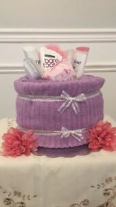 Towel Cake for Bridal shower gift