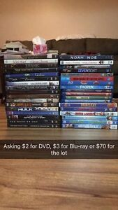 Lot of DVDs and Blu-rays