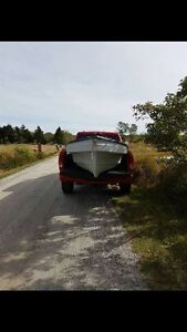 FS/TRADE: 12ft fiberglass boat with 20HP Evenrude outboard