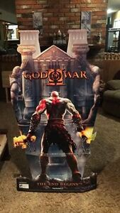 God of war II retail cardboard display PlayStation ps2 PS3 retro