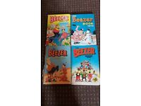 Classic The Beezer Books x 4 - Good Condition