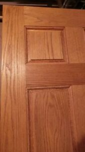 NEW Only 1 left ! Beautiful UnStained Solid Oak Door 30x80
