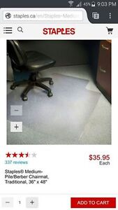 Chair mat for carpetted computer areas