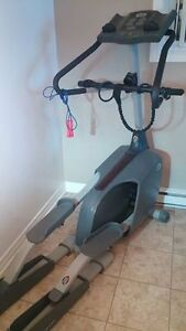 Elliptical training machine