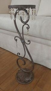 Vintage iron candle or plant stands 2 FEET HIGH GORGEOUS