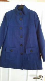 Next blue lined winter coat in size 12 bnwot rrp £50 +