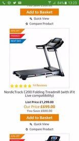 Nordictrack running machine, treadmill