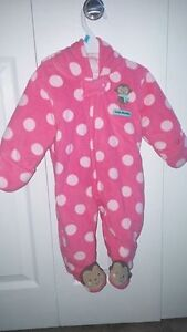 0-3 plush carters hooded outfit
