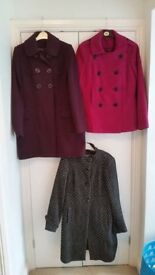 Ladies winter coats, Size 10-12