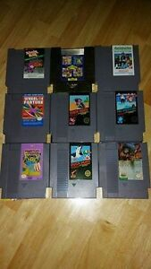 Regular Nintendo games for sale selling as a lot