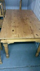 Pine Dining Table & Chairs