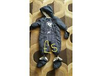 Navy snow suit Matalan Age 9-12 mths Excellent Condition
