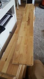 Free 18x solid blonde hardwood tongue & groove flooring boards