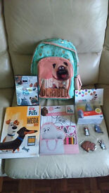 Secret life of pets Rucksack and merchandise/Dvd £20-all brand new(dvd played once) with tags