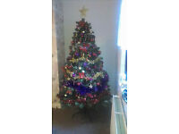 Christmas tree 2m tall with decorations