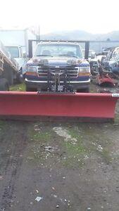 Ford F-350 Pickup Truck snow plow